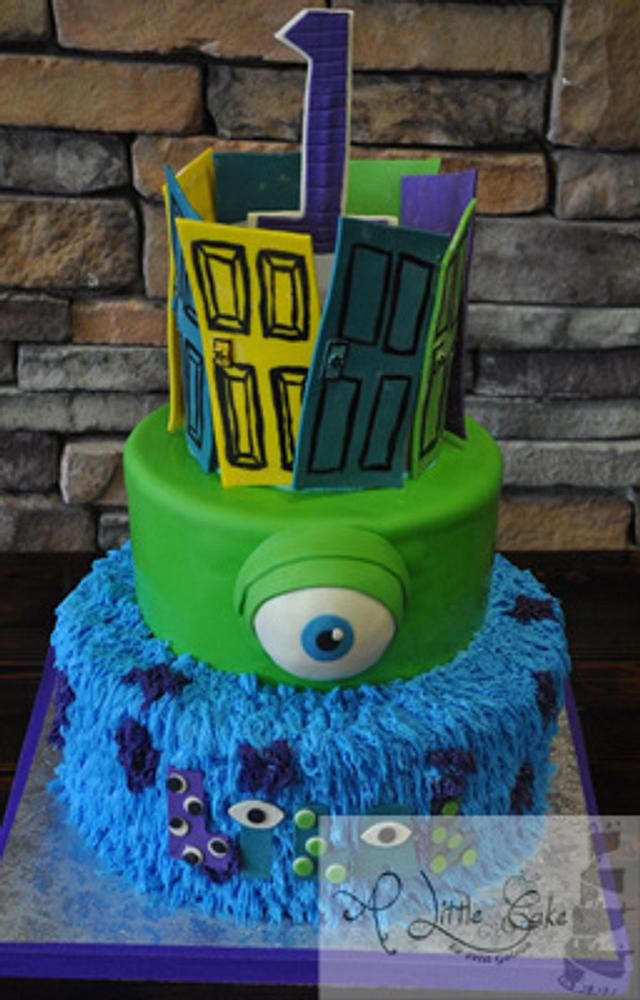 Brilliant Monsters Inc Themed First Birthday Cake Cake By Leo Cakesdecor Personalised Birthday Cards Sponlily Jamesorg