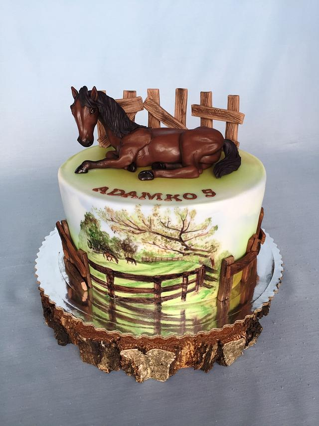 Super Horse Birthday Cake Cake By Layla A Cakesdecor Funny Birthday Cards Online Fluifree Goldxyz