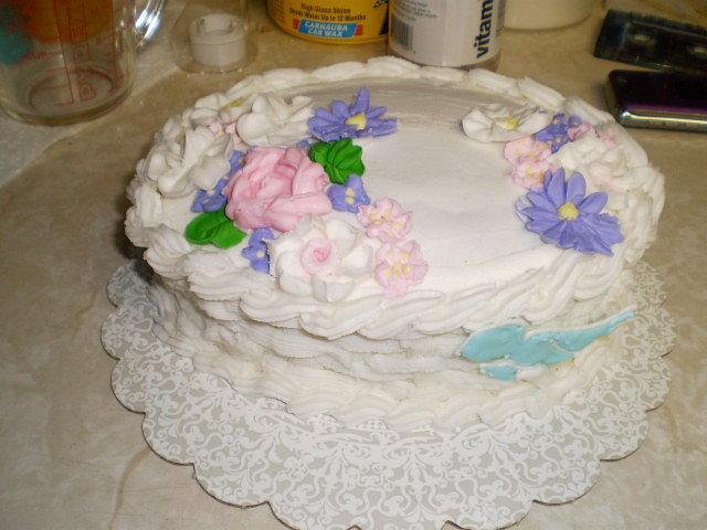 Wilton Final Cake-Course 2-Basketweave Cake.