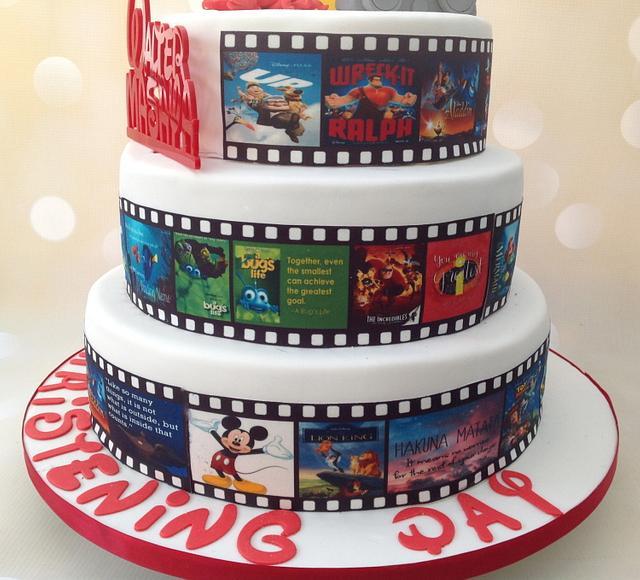 Disney Christening Cake