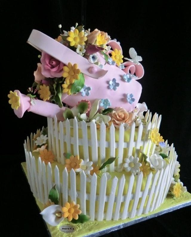 Mother's Day Watering Can Cake