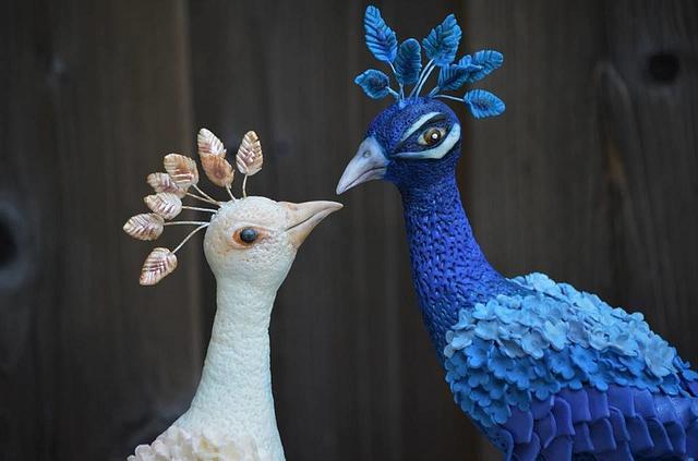 peacock university cake