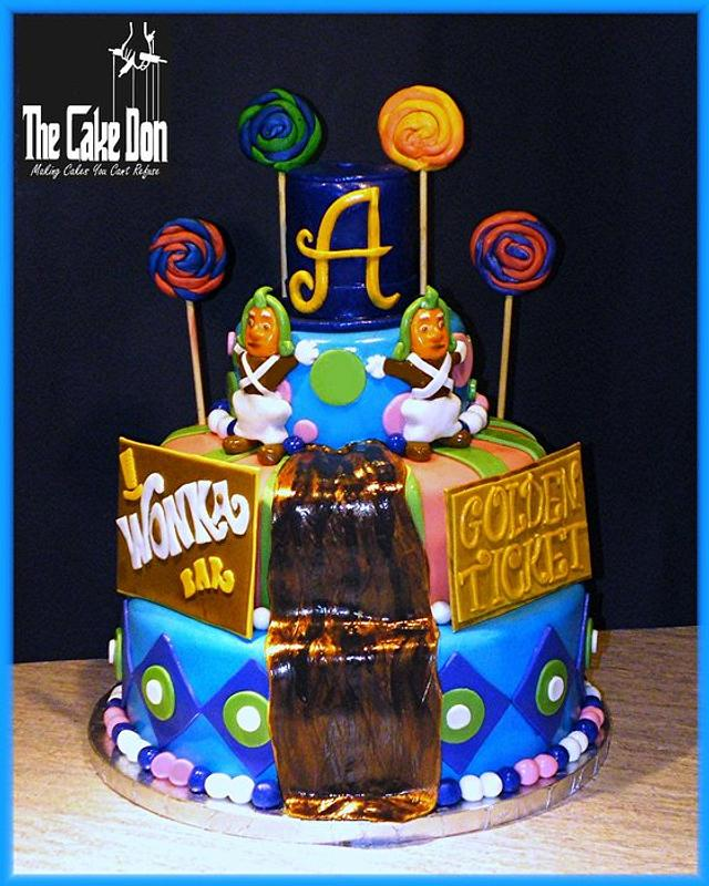 THE WILLY WONKA SWEET 16 CAKE