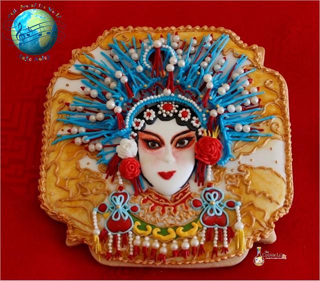 Music Around the World - Cake Notes - CHINESE OPERA COOKIES!