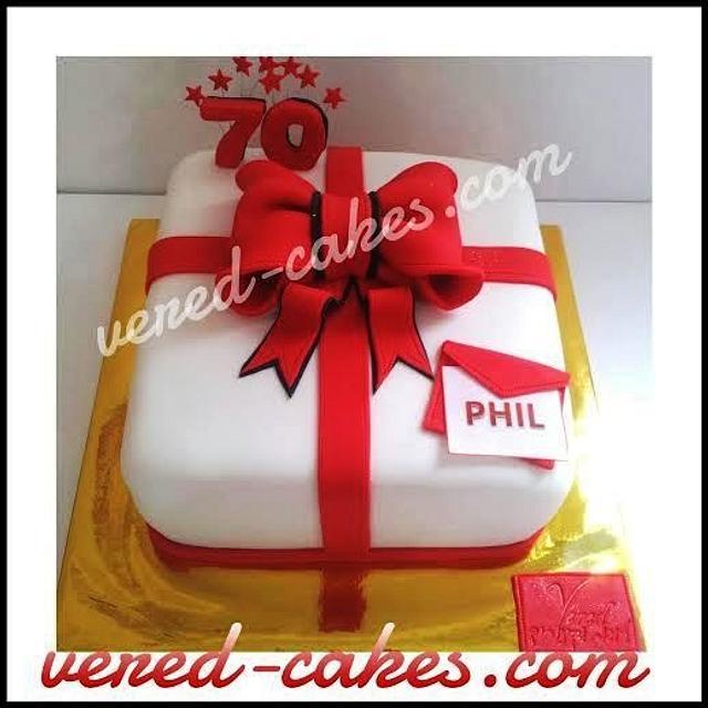 A birthday gift cake