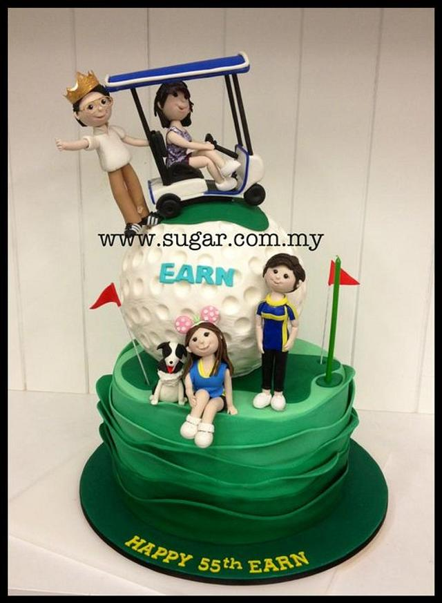 Fantastic Golf Themed Birthday Cake Cake By Weennee Cakesdecor Funny Birthday Cards Online Aeocydamsfinfo