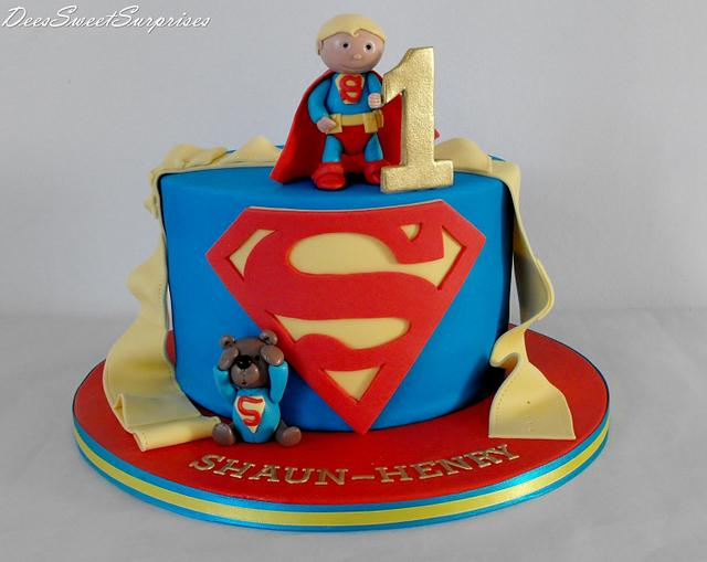 Magnificent Baby Superman Birthday Cake Cake By Dee Cakesdecor Funny Birthday Cards Online Bapapcheapnameinfo