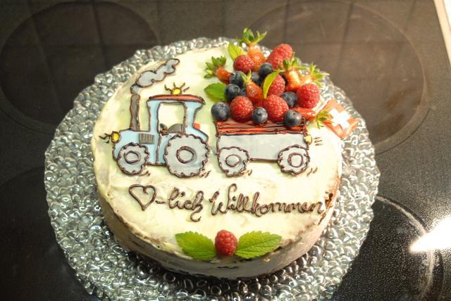 welcome cake