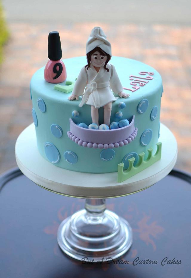 Sensational Spa Party Cake By Elisabeth Palatiello Cakesdecor Personalised Birthday Cards Xaembasilily Jamesorg