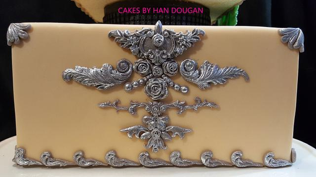 Square Peacock cake.