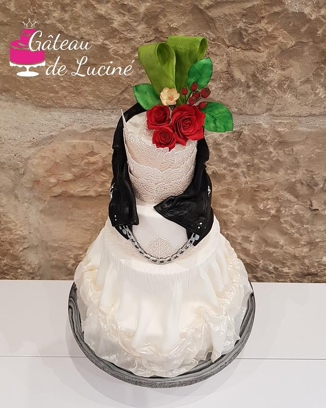 Rock N Roll Bride wedding cake