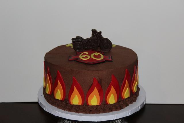 Fabulous Motorcycle Birthday Cake Cake By Rosie93095 Cakesdecor Funny Birthday Cards Online Alyptdamsfinfo