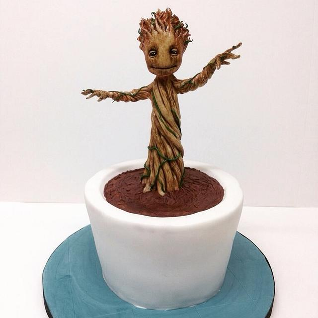 Baby Groot Cake!