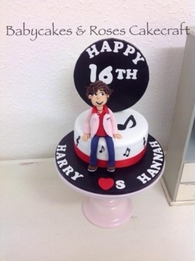 Phenomenal 1D Harry Styles Birthday Cake Cake By Babycakes Roses Cakesdecor Funny Birthday Cards Online Eattedamsfinfo