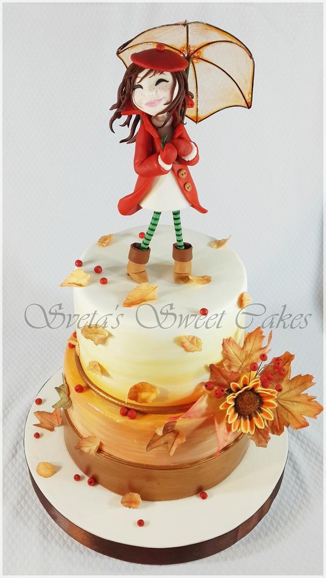 Prime Autumn Birthday Cake Cake By Sveta Cakesdecor Funny Birthday Cards Online Aboleapandamsfinfo