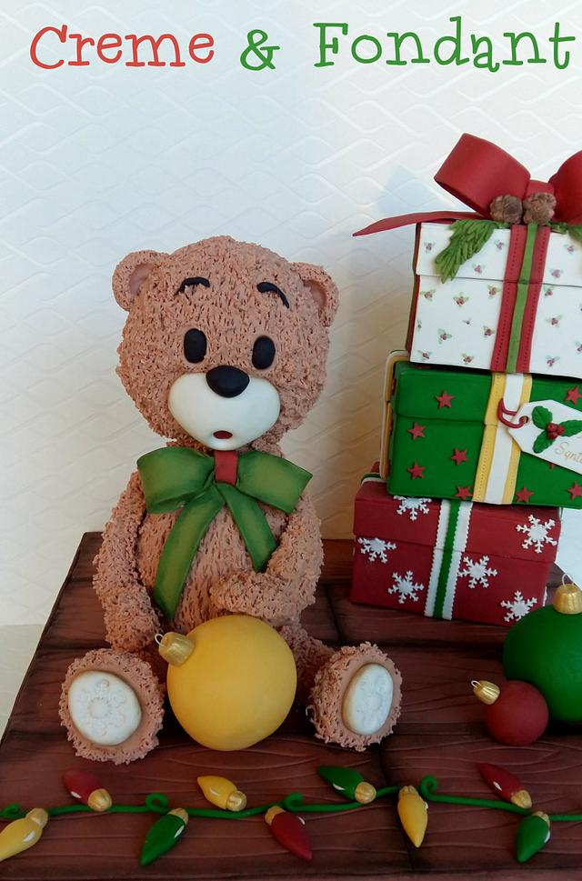 Teddy in christmas mood.