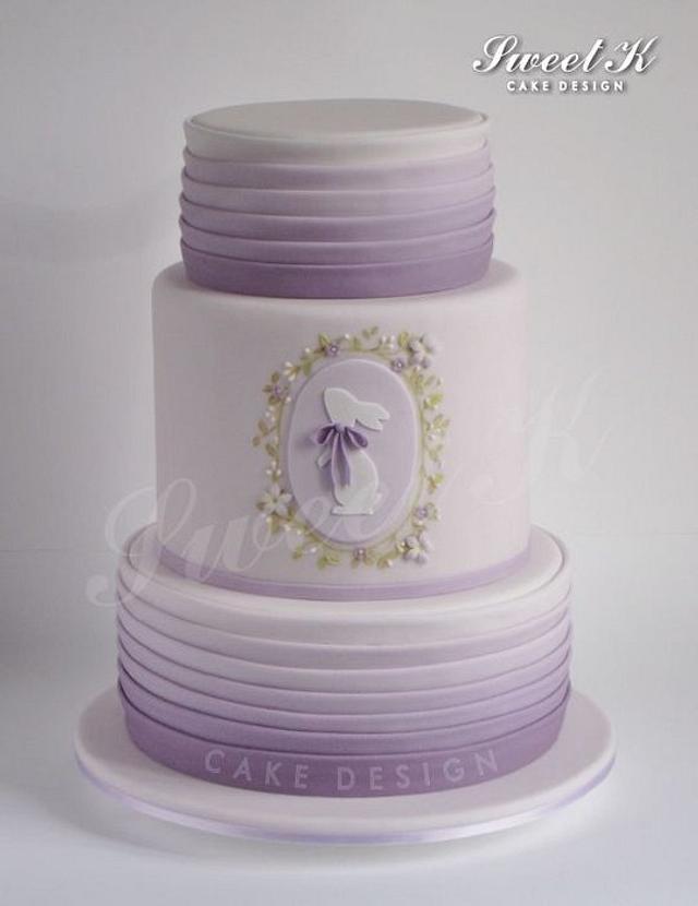 Lavender Easter cake