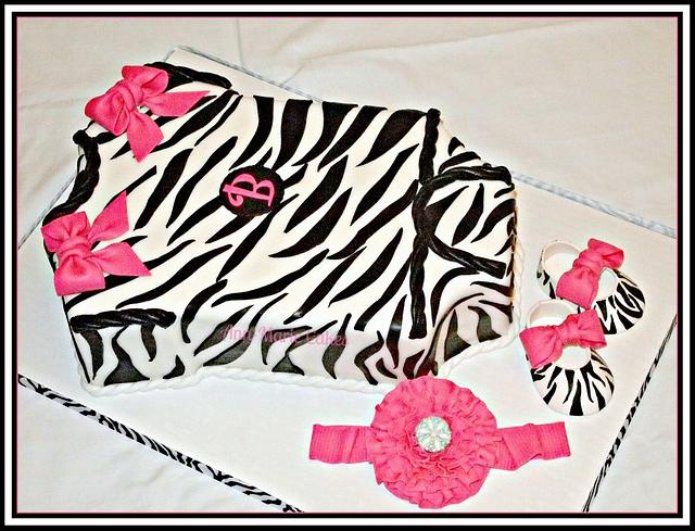 Zebra and Pink Onesie