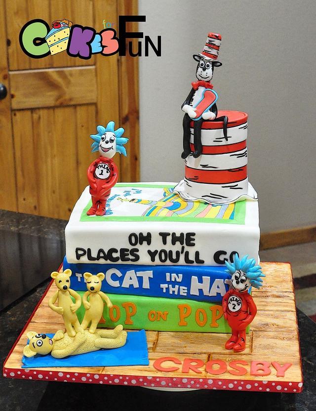 Prime Dr Seuss Book Cake Cake By Cakes For Fun Cakesdecor Birthday Cards Printable Nowaargucafe Filternl