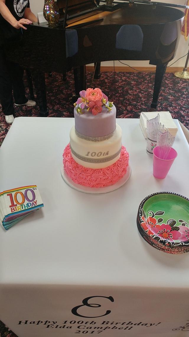 Grandma's 100th birthday cake