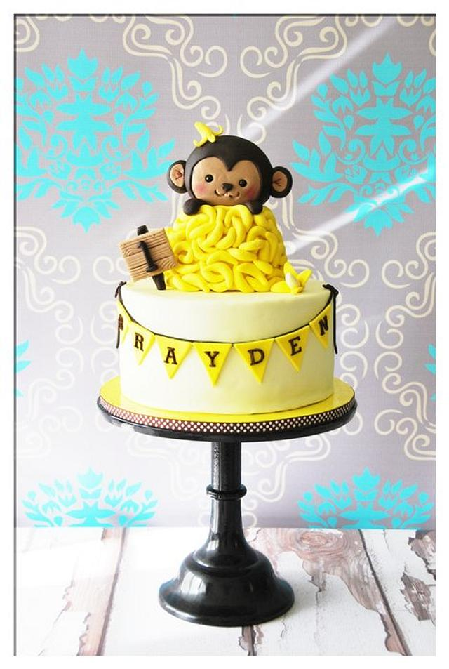 Prime Monkey 1St Birthday Cake Cake By Bloomcakeco Cakesdecor Funny Birthday Cards Online Alyptdamsfinfo