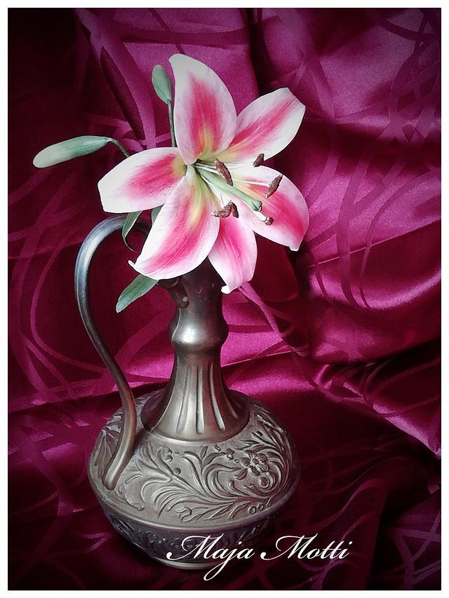 Lily. Sugar flower