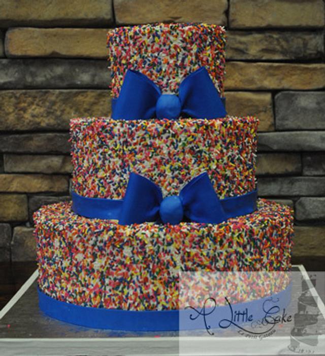 Funfetti Tiered Wedding Cake | A Little Cake