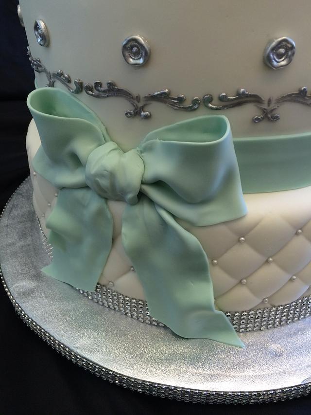 Summer's End Wedding Cake