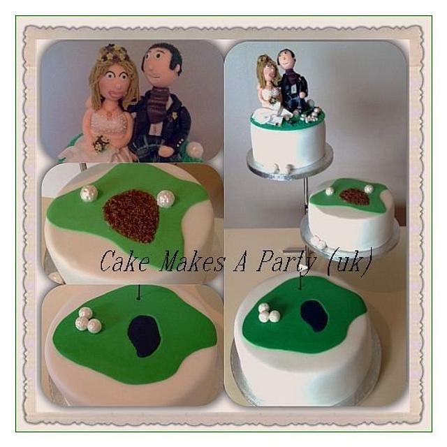 golf themed wedding cake