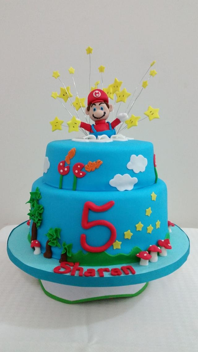 Outstanding Super Mario Themed 5Th Birthday Cake Cake By Cakesdecor Funny Birthday Cards Online Bapapcheapnameinfo