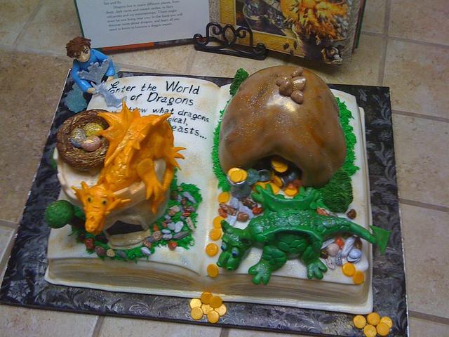 World of Dragond book cake