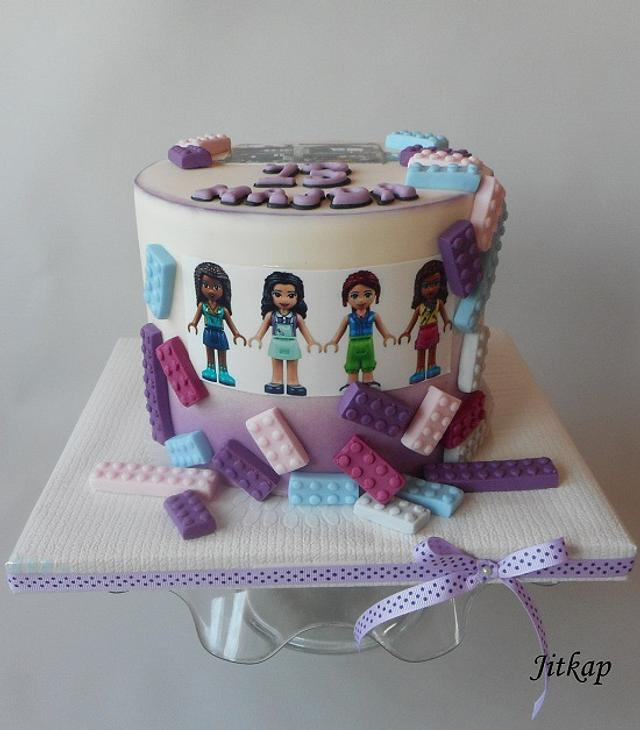 Admirable Lego Friends Cake Cake By Jitkap Cakesdecor Personalised Birthday Cards Paralily Jamesorg