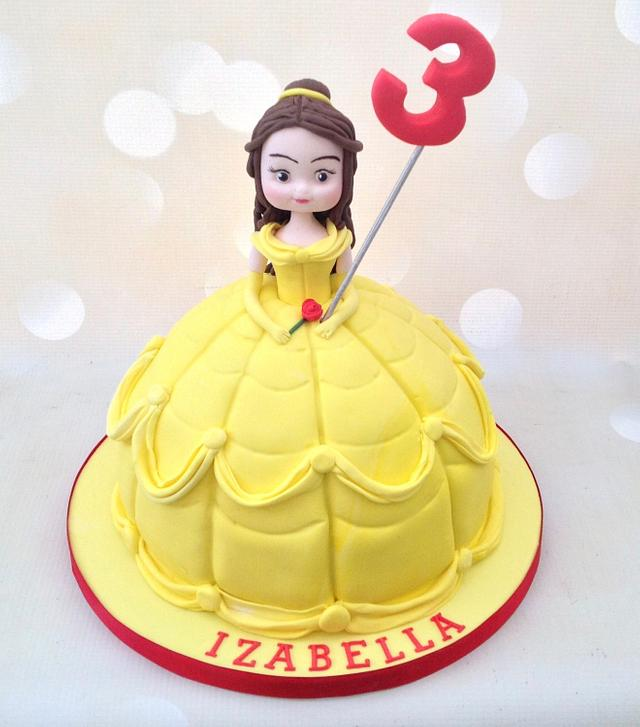 Remarkable Belle Birthday Cake Cake By Yvonne Beesley Cakesdecor Personalised Birthday Cards Paralily Jamesorg