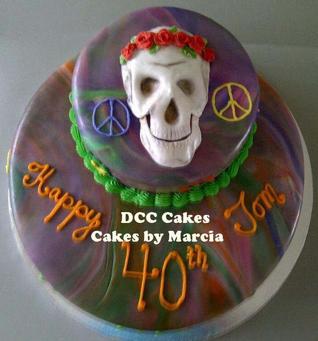 Grateful Dead Male Birthday Cake