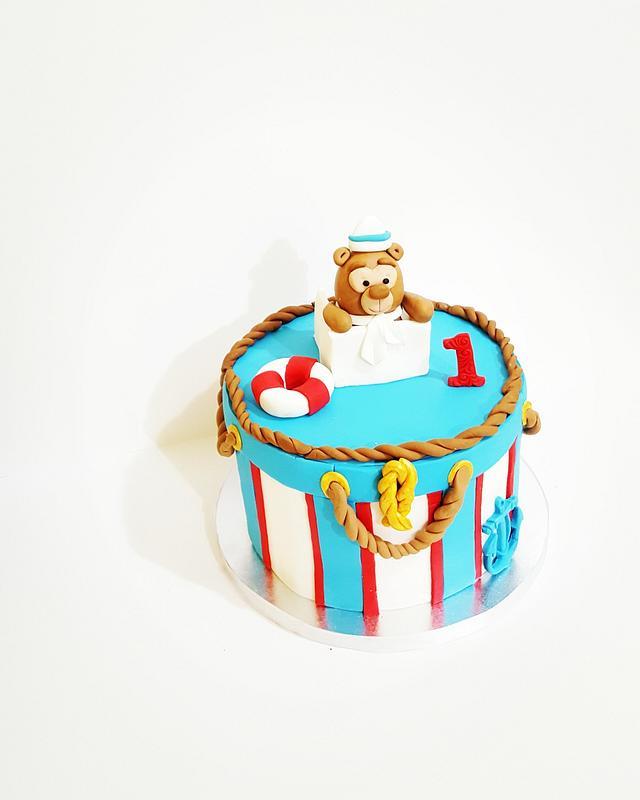 Sailor teddy bear  theme cake