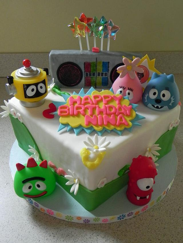 Yo Gabba Gabba Square Cake
