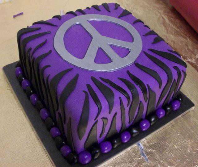 Zebra & Peace Sign