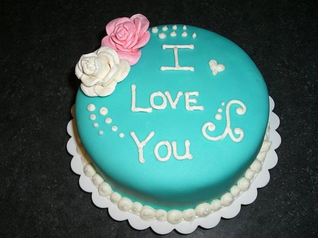 "Valentine's Day ""I love you"" Cake"