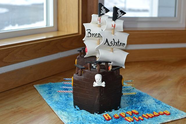 Miraculous Arrrgh Pirate Ship Birthday Cake Cake By Cakesdecor Birthday Cards Printable Riciscafe Filternl