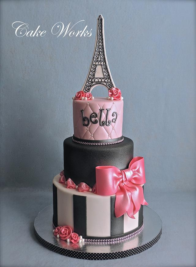 Fabulous Paris Themed Birthday Cake By Alisa Seidling Cakesdecor Funny Birthday Cards Online Fluifree Goldxyz