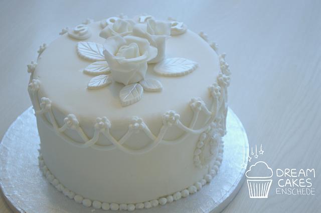 White elegant cake!