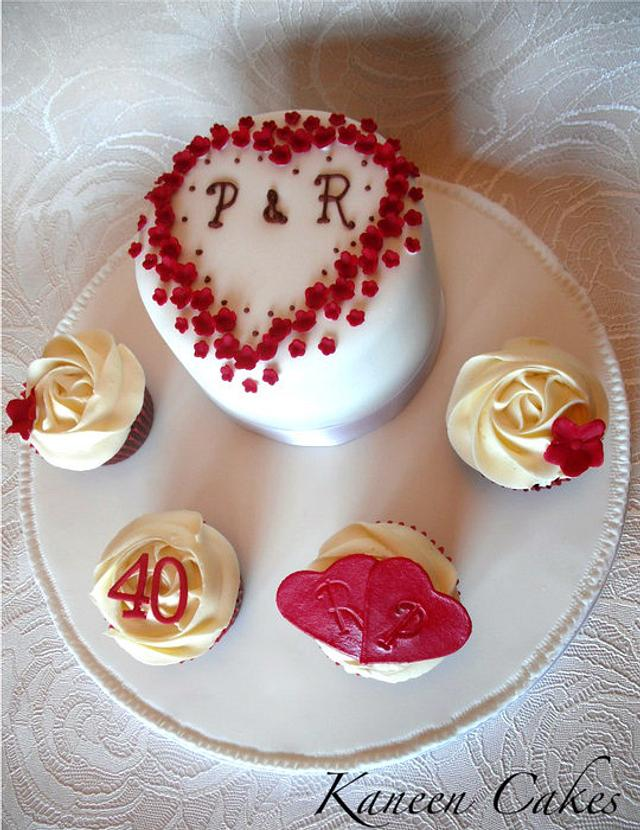 40th Ruby anniversary cake