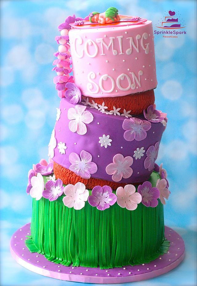 Hawaiian Theme Baby Shower Cake