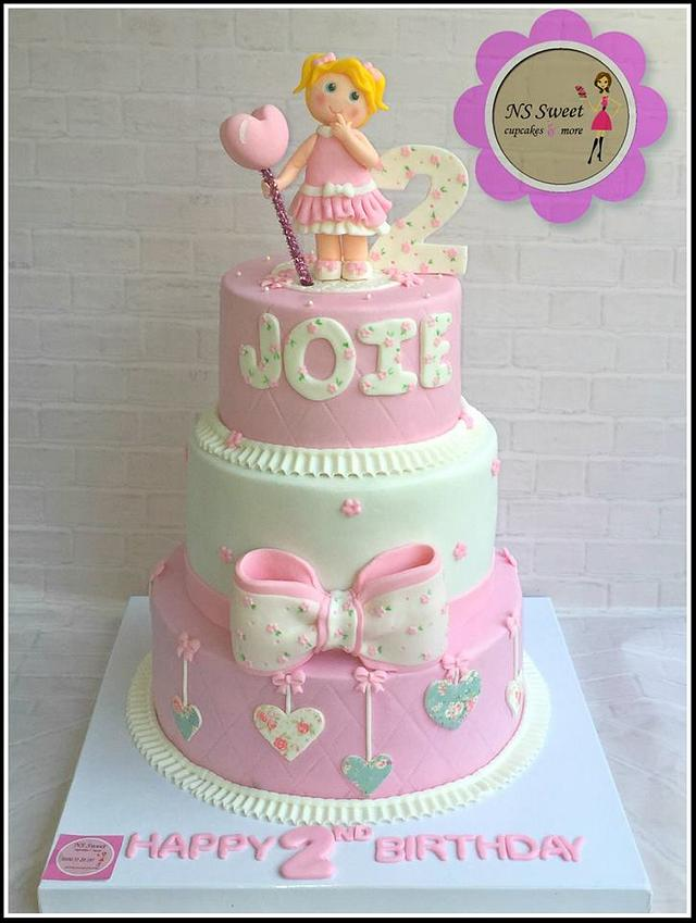 Remarkable Birthday Cake Cute Girl Cake By Ns Sweet Cakesdecor Funny Birthday Cards Online Overcheapnameinfo