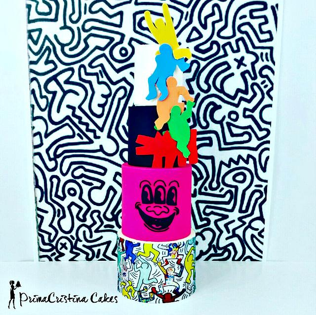 Cuties Street Art Collaboration - Keith Haring Inspired