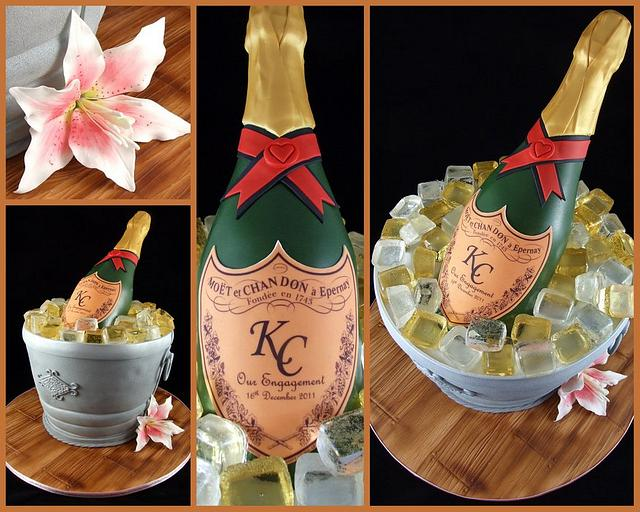 Champagne Bottle and Ice Bucket