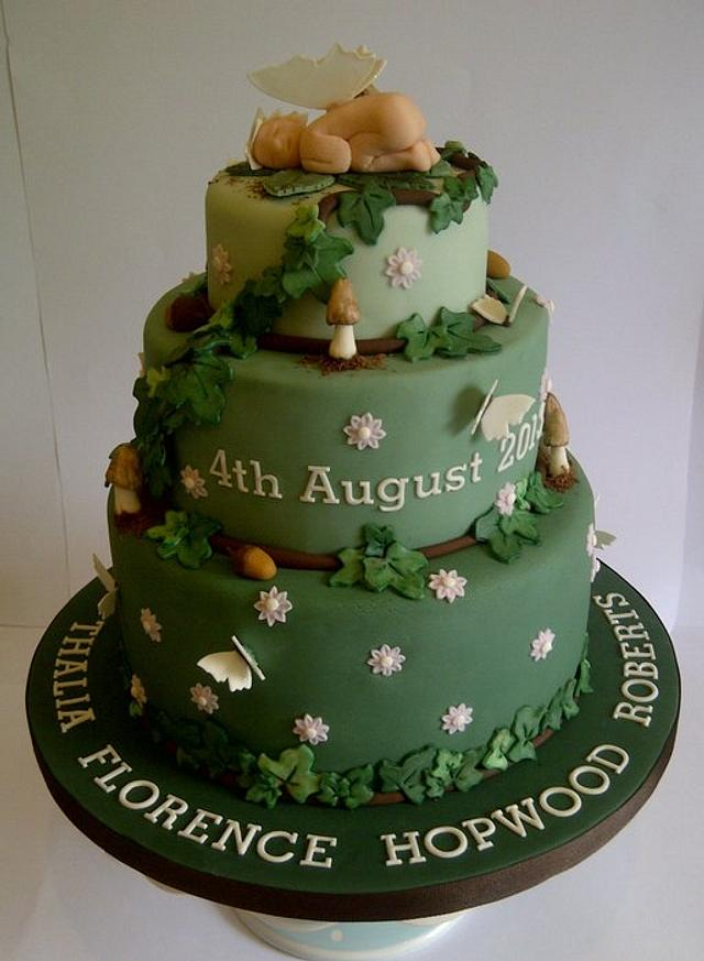 Woodland Christening Cake