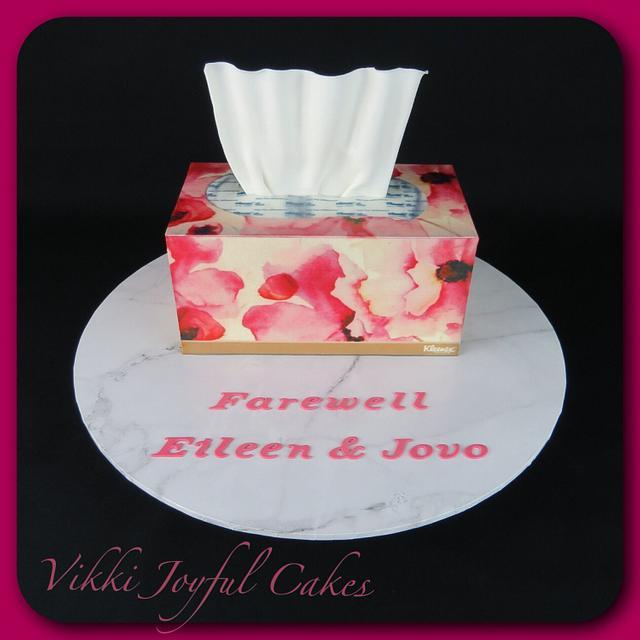 Tissue box cake