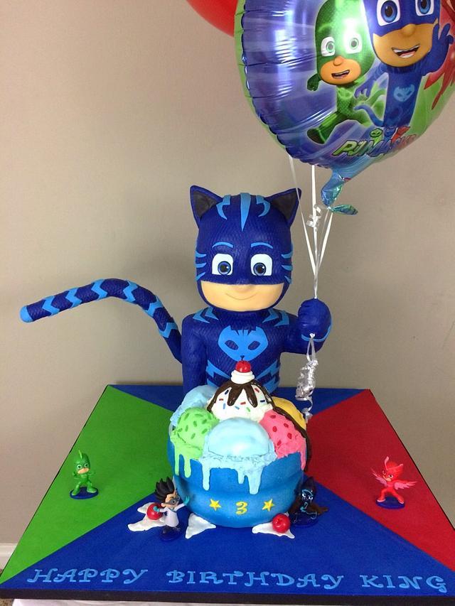 pj mask cake - caketalk of the town cakes llc - cakesdecor
