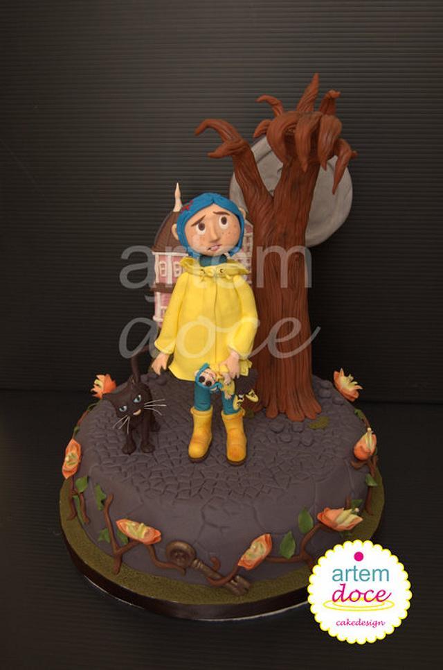 Astonishing Coraline Cake By Margarida Guerreiro Cakesdecor Funny Birthday Cards Online Inifodamsfinfo